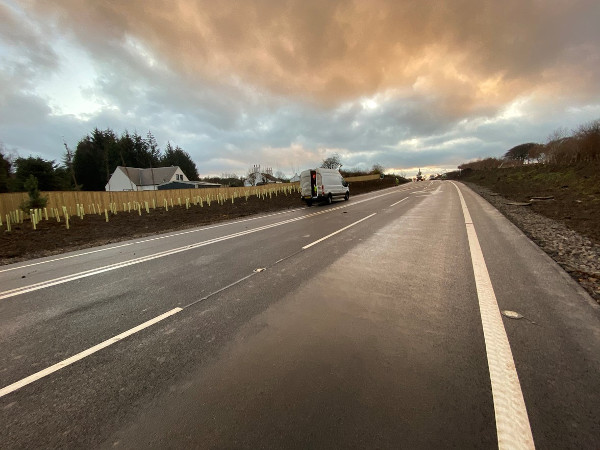 £9m road realignment scheme completed early image