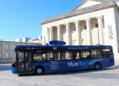 Bus firm goes ahead with first air filtering bus image