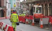 "CCTV installed to check on ""slow"" road workers image"
