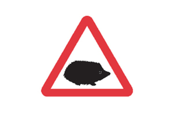 Councils urged to adopt new hedgehog traffic sign image