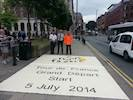 Decorative surfacing marks the start of Tour de France image