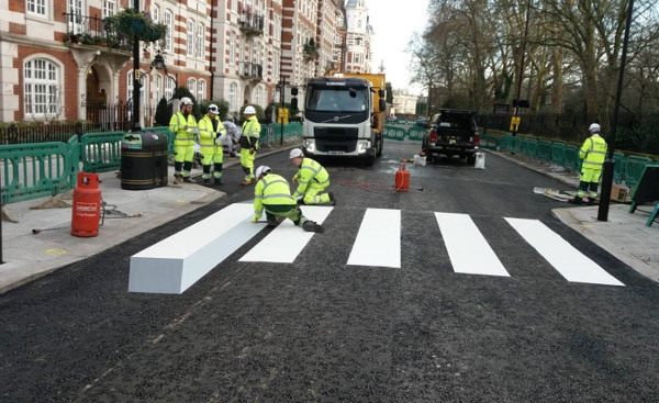 Did you see the Zebra crossing? image