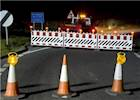 Drivers fined after removing roadworks barriers image