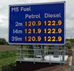 FLI help to install fuel price signs on M5 image