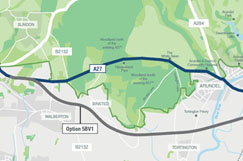 Fresh Arundel bypass plans could see costs hit £455m image