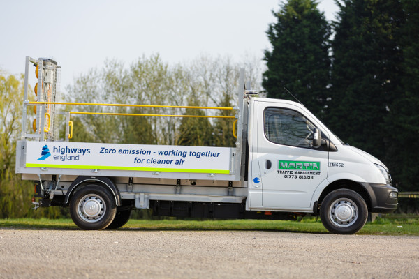 Highways England announces electric roadworks vehicle trial  image