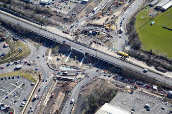 Highways England digs for victory on £75m triple-deck roundabout image