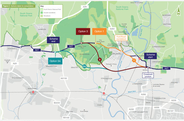 Highways England reworks plans for £250m Arundel bypass image