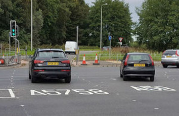 Highways England switches on road studs at busy junction image