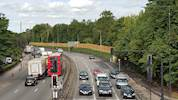 Improvement work on the A406 completed image