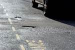 Increase in vehicles damaged by potholes image