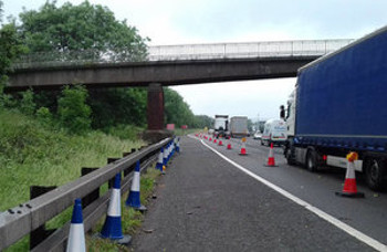 M6 bridge to come down to make room for all lane running image