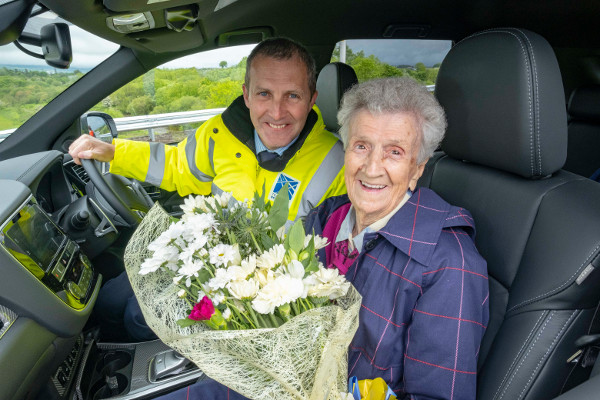 Matheson takes centenarian for a spin as £31m bypass opens image