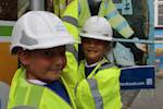 Pupils learn about the danger of roadworks image