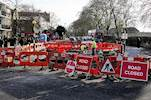 Red tape cut for road works image