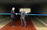 Roads Minister opens newly-dualled section of A421 image