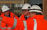 Roads Minister visits gritting salt supplier image