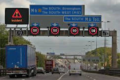Smart motorways: Before and after image