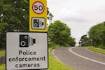 Speed camera switch-off attacked image