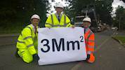 Three million square metres of road repairs completed image