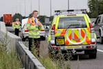 Traffic officer struck by van at roadworks image