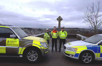 Traffic officers with the force in Cornwall image