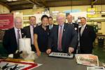 Transport Secretary tours road sign factory image