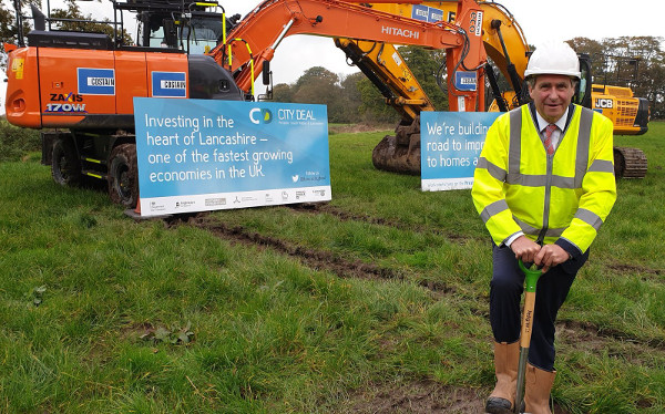 Turf cut on £207m North West link road scheme image