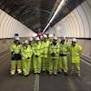Welsh infrastructure secretary visits Brynglas Tunnels image