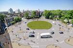 Work begins on cycle friendly roundabout image