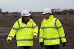Work on £19m link road underway image
