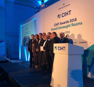 Wright recognised for inspirational leadership as Kier triumphs at CIHT awards image